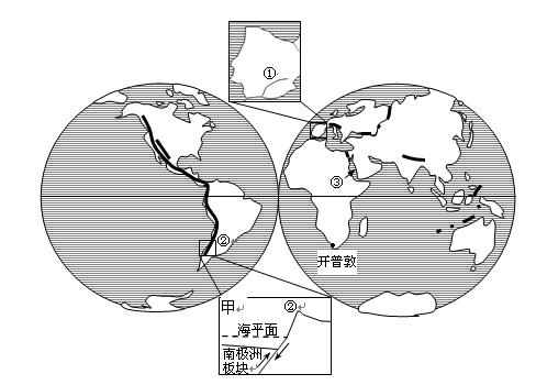 【题文】该图为世界海陆分布图.回答.