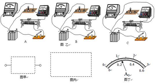 0一个(量程为0~3v,内阻为2kΩ) 直流电流表a 0一个(双量程0~0.