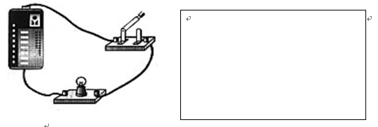 【题文】根据下面最简单的电路实物连接图,在右边方框内画出对应的