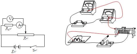 所以采用电流表的内接法,避免电压表的分流,如图所示, ④为了保证电路