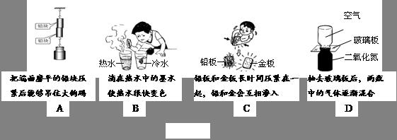 【题文】如图所示的各种现象中,不属于扩散现象的是________.(1分)初中惜时守时手抄报图片