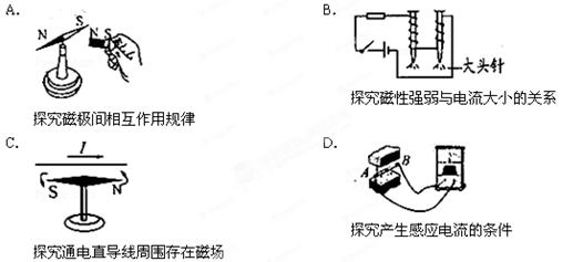 应保持电磁铁的匝数一定,改变电流的大小,b选项中电路的电流不能改变