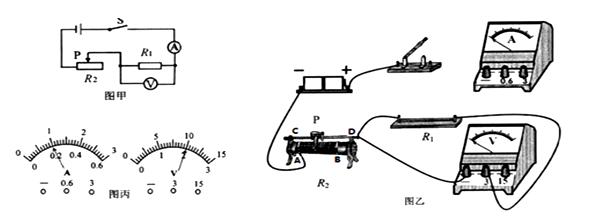 (2)按图甲电路实验时,闭合开关后,小明将滑片p向左滑动,电压表示数将