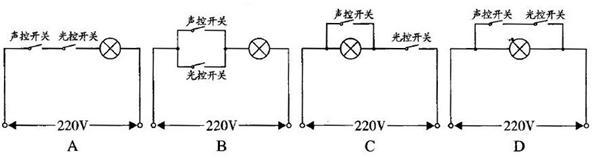 人们设计出一种由声控开关和光控开关共同控制楼道路灯的电路,要求