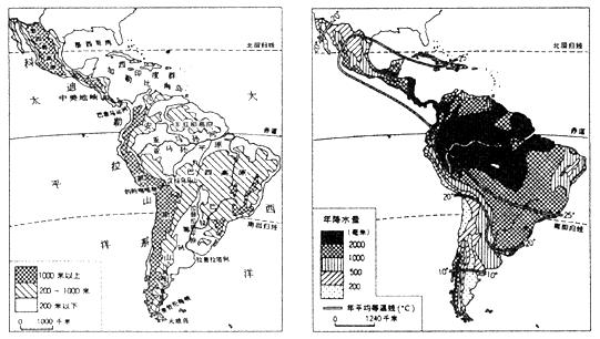 南美洲气候类型的区域图图片