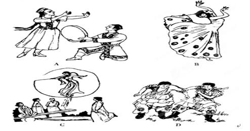 手绘蒙古族帽子画