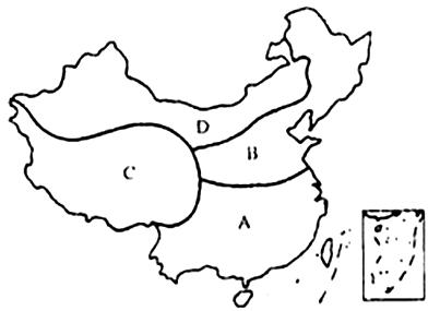 【题文】读我国四大地理区域示意图,完成下列各题.图片