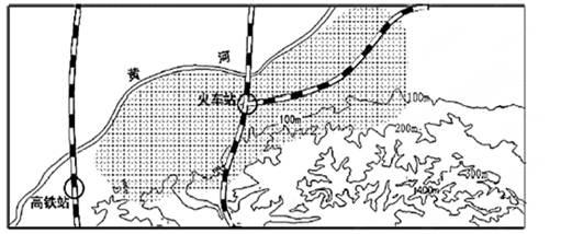 【题文】(10分)下图为我国东部季风区黄河沿线某城市