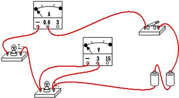 件,按要求画出电路图并且连接实物.要求L1和L2串联,电压表测L1