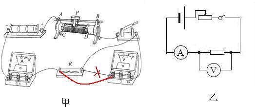如图所示,是小军同学连接的测电阻rx的电路.