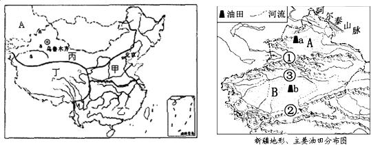 材料一:新疆地区图