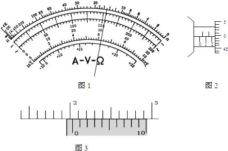 高中物理试题 静电现象 (1)如图1是多用表的刻度盘,.