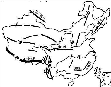 """读""""中国地形图"""",回答下列问题"""