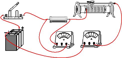 滑动变阻器的电路图连接