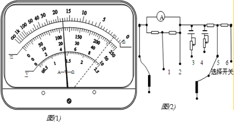 (1)一块多用电表的电阻挡有三.