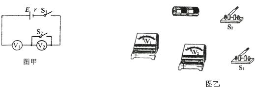 为了测量两节串联干电池的电动势,某同学设计了如图甲所示的实验电路.