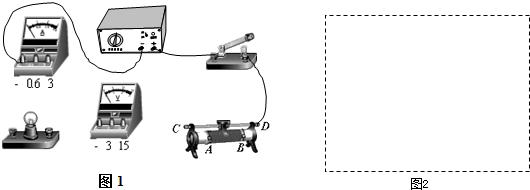 他们完成了电路的部分连接,请你将电路连接完整(导线不交叉),并在图2