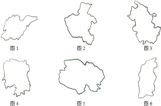 初中地理试题 从世界看中国 请写出下列各轮廓图的简称图1:.