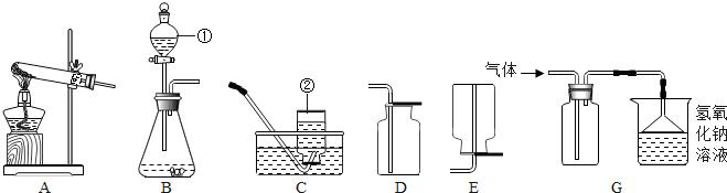 如图为实验室常用的实验装置,请回答问题