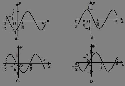 函数在区间的简图是( )图片