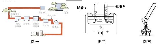 ① 图一是某自来水厂的净水过程示意图,其中活性炭的作用是