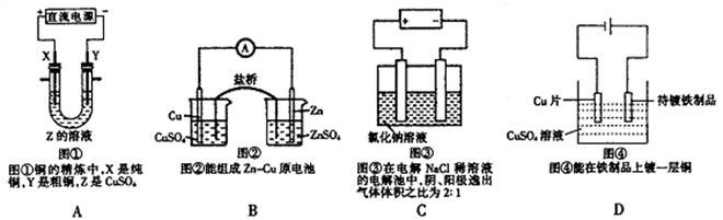 (1)下列说法错误或实验数据不合理的是______(填序号);将实验剩余的药品放回原试剂瓶;实验室用高锰酸钾制氧气,在试管口附近放一团疏松的棉花;滴瓶上的滴管使用后,应及时清洗干净;烧杯可以直接在酒精灯火焰上加热;加热时,试管中的液体不能超过试管容积的1/3;实验室用CO与Fe2O3反应制取铁时,先通CO,再点燃酒精灯;用托盘天平称取15.