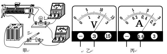 如图所示电路,甲,乙,丙分别是电流表或电压表,当开关s