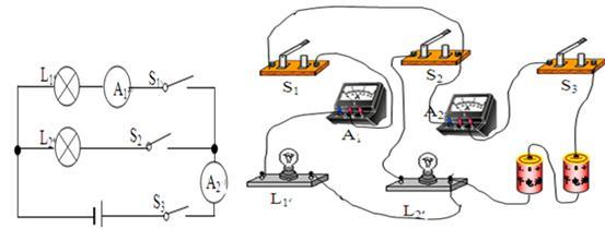 一般 来源:不详 解析 试题分析:由电路的设计要求可知,两个灯泡是并联