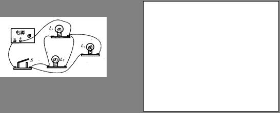 初中物理试题 电路 根据实物图,在答题纸方框内画出.