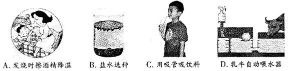 如图所示的实例中利用大气压的是图片