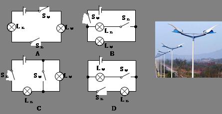 初中物理试题 电路 如图所示是新街换装的新路灯,左.