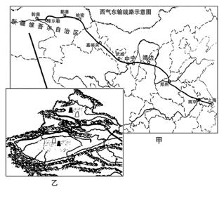 西气东输主要是将新疆塔里木盆地的天然气输往我国东部地区.