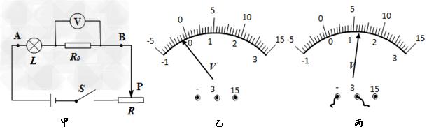 """初中物理试题 串联电路的电压规律 如图甲所示是小明""""探究串联电路."""