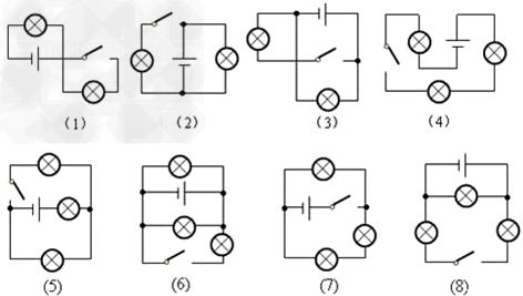 初中物理试题 电路 指出下列电路图的错误