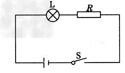 """如图所示,""""6v 3w""""的灯泡l和电阻r串接在电路上,灯l正常发光."""