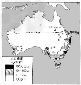 澳大利亚的人口密集分布_澳大利亚人口分布