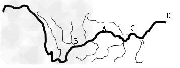 中国河流图手绘简图