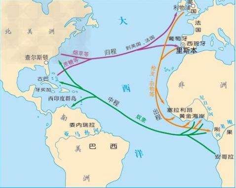 """罪恶的""""三角贸易""""练习题_初中历史P24 – 新东方在线网络课堂"""