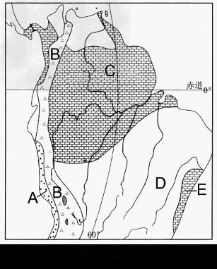 读南美洲部分区域气候分布图,回答问题 1.比较C D两地的气候气特征的差异 C D 2.分 –图片