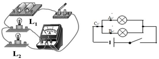 并联电路实物连接_、在探究并联电路中干路的电流与各支路的电流有什么关系时 ...